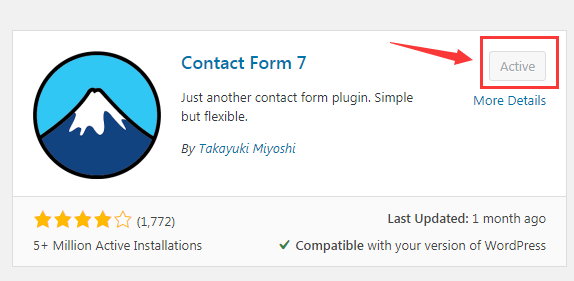 contact form 7 setting